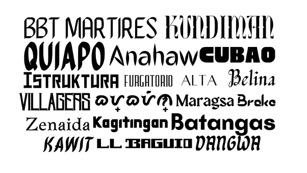 Filipino inspired fonts