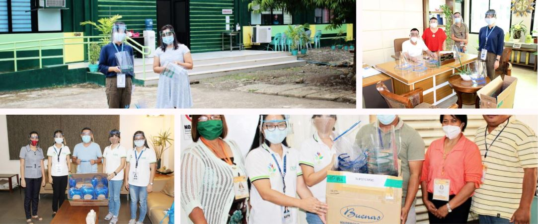 DOST Misamis Occidental donates face shields