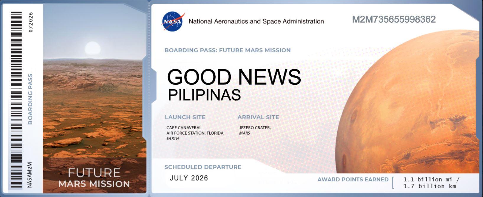 Philippines NASA Mars Mission