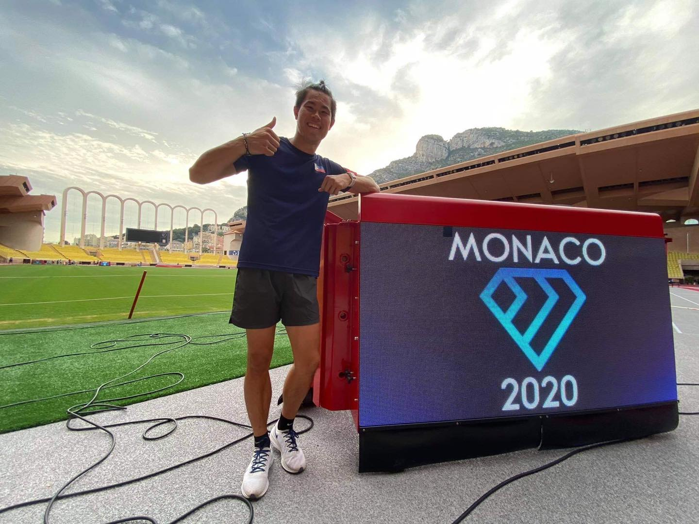 EJ Obiena at the Diamond League Athletics Meeting Monaco