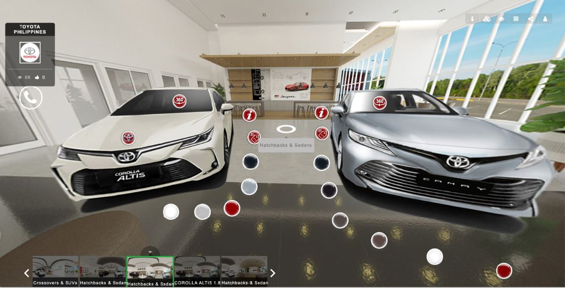 Toyota Philippines - virtual showroom