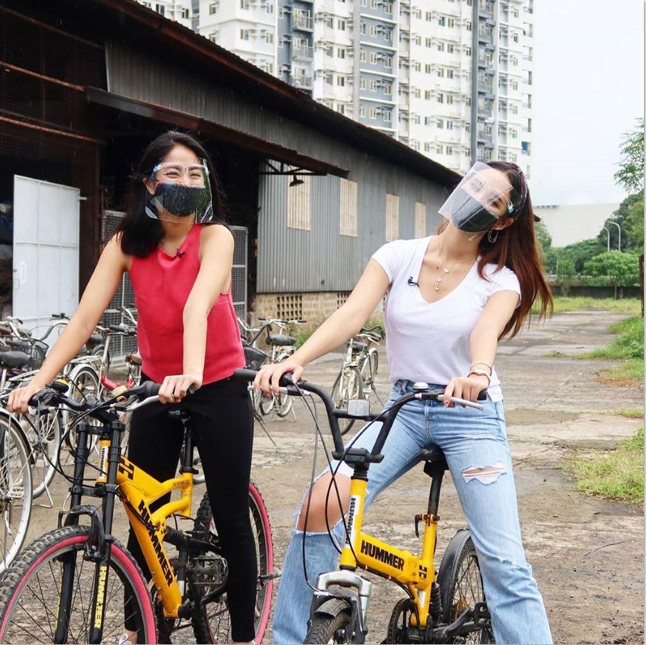Catriona Sam Gretchen Bike donation