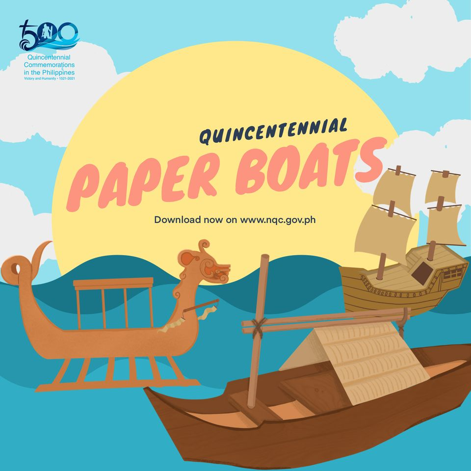 Papercraft boat souvenirs Quincentennial