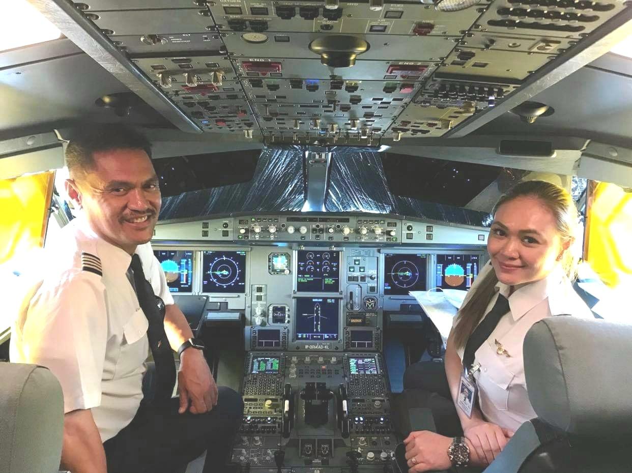 Capt. Leo Yosalina and daughter First Officer Lea Yosalina-Brito
