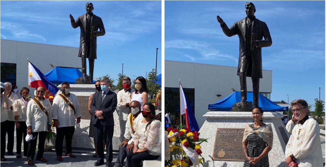 Dr. Jose Rizal monument Canada