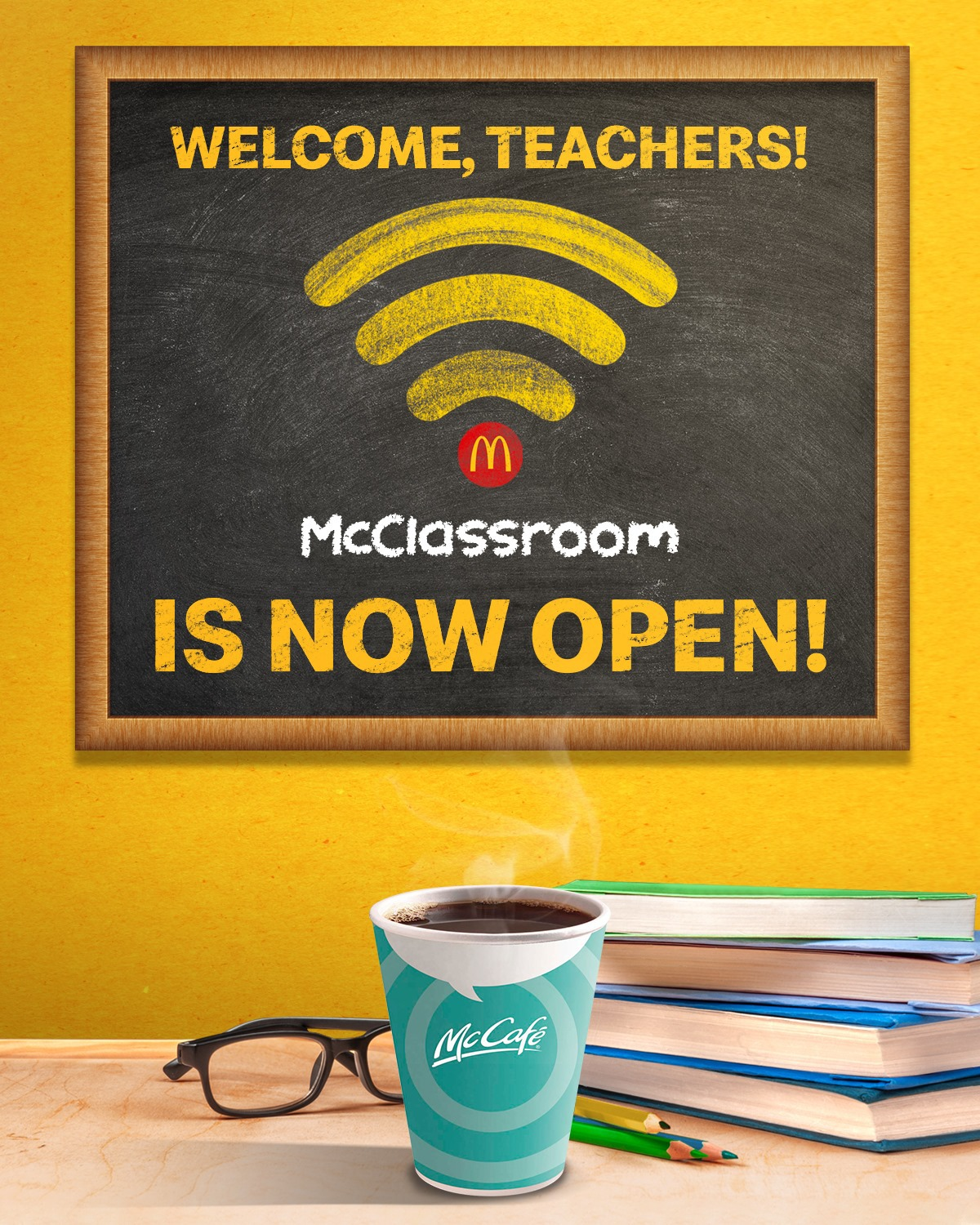 McDonald's Partyrooms to classrooms