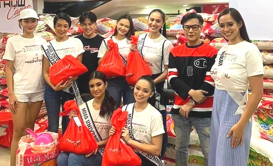 Miss Universe Philippines relief for typhoon victims