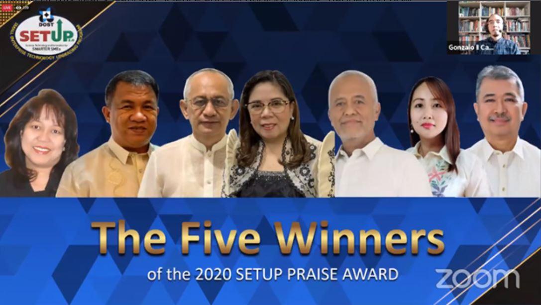 DOST awards SETUP beneficiaries