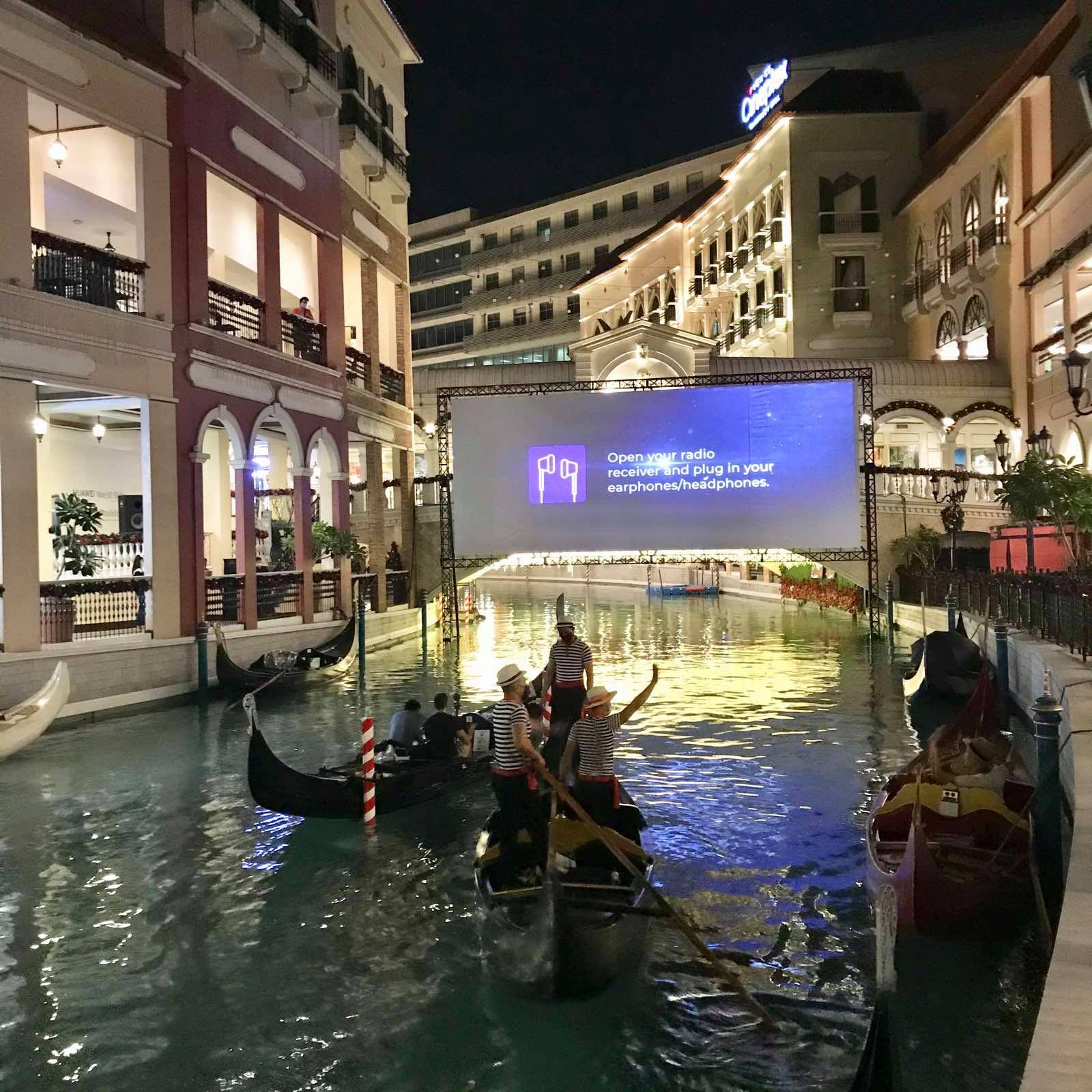Venice float-in Cinema