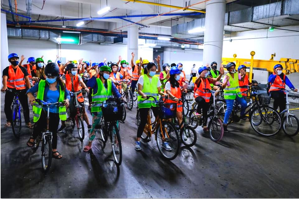 Gretchen Ho bike donation