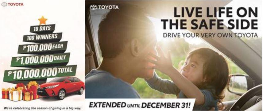 Toyota holiday season blowout