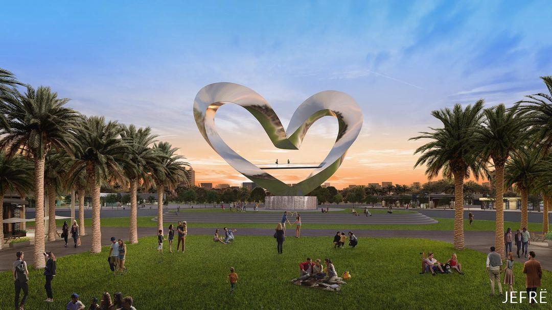 World's tallest heart sculpture