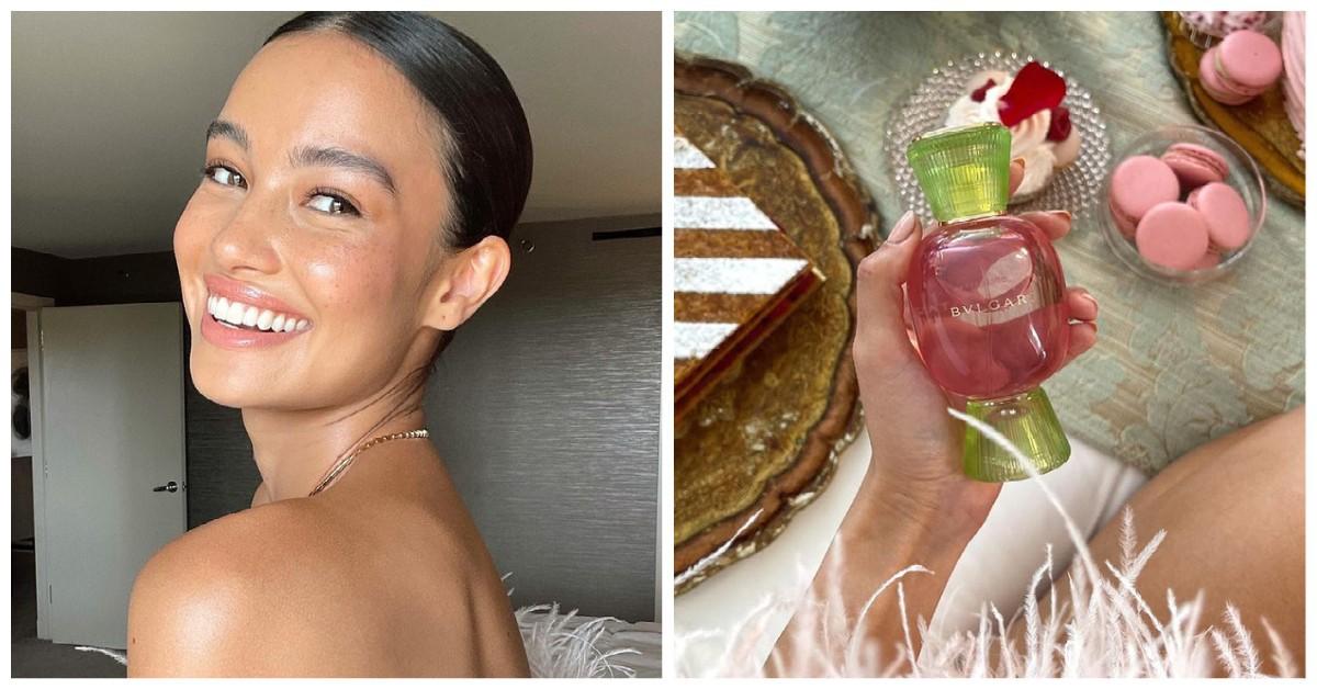 Kelsey Merritt Bulgari's fragrance