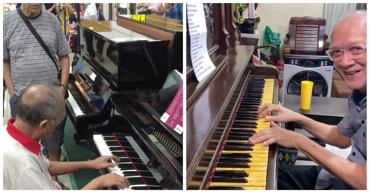 72-year-old mall pianist performs online concerts