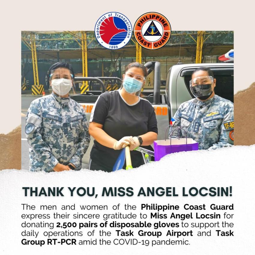 Angel Locsin Philippine Coast Guard medical supplies