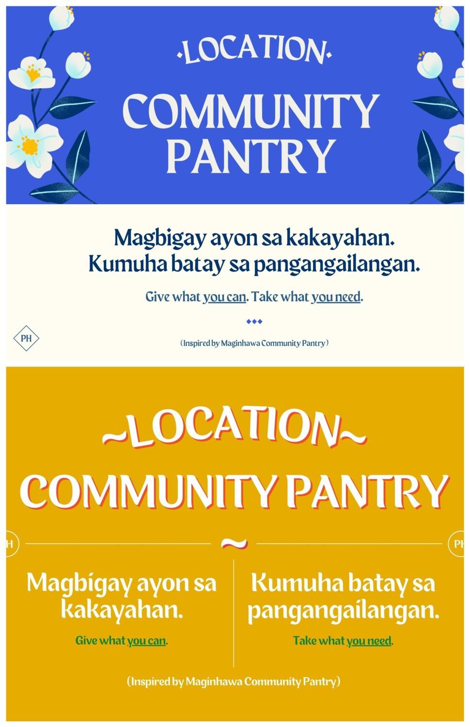 Canva free design templates community pantry