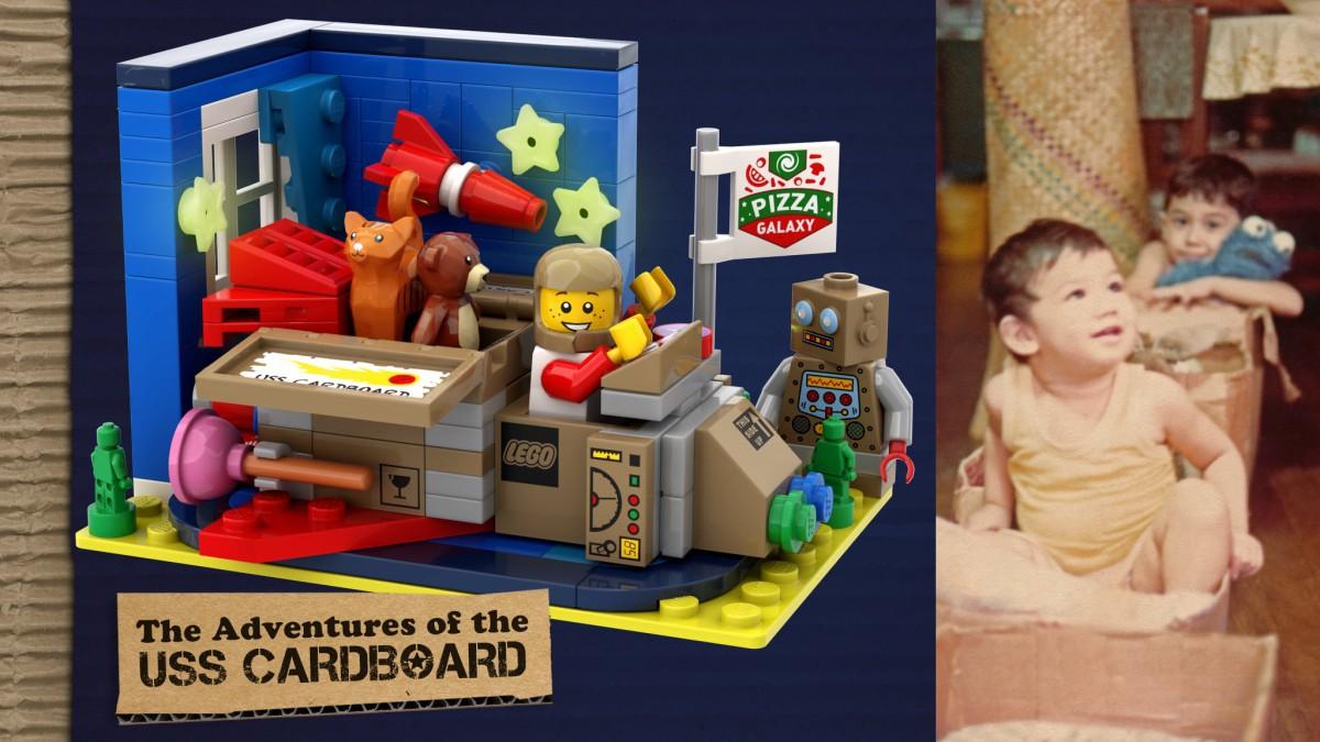 LEGO USS Cardboard Spaceship design
