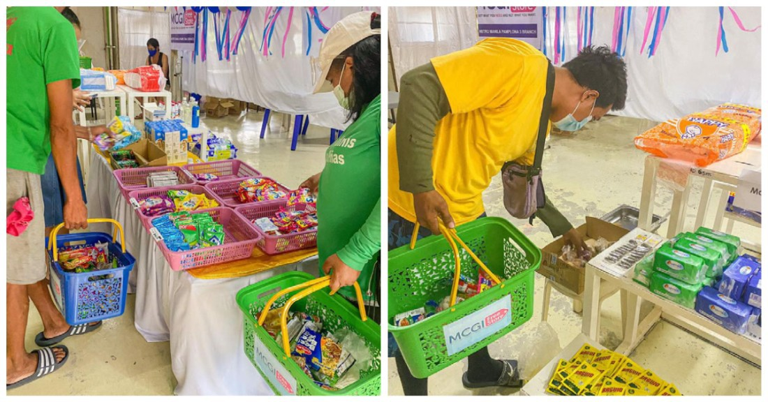 Manila Charitable store essential groceries for free