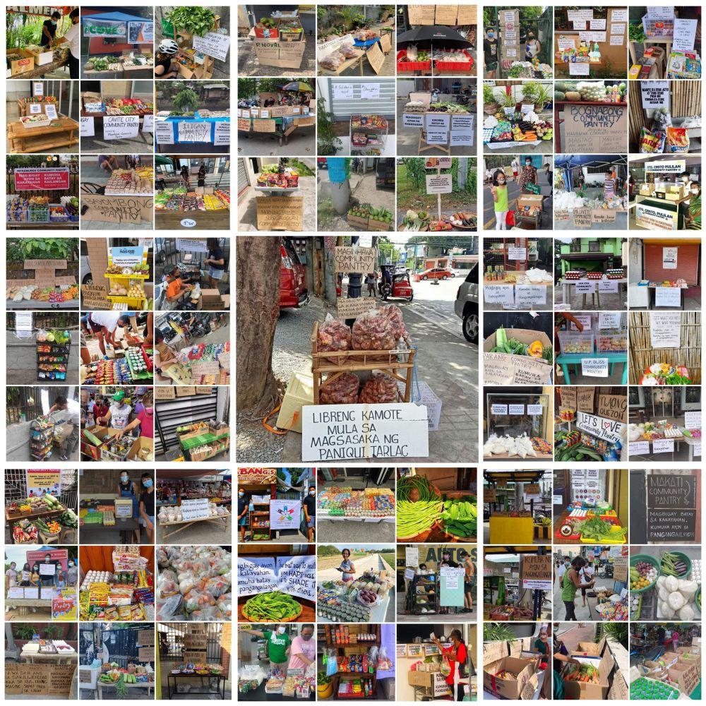 Filipinos community pantries set up