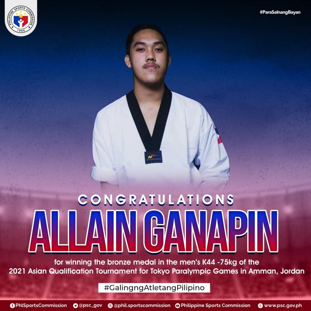 Allain Ganapin Asian Paralympics qualifier