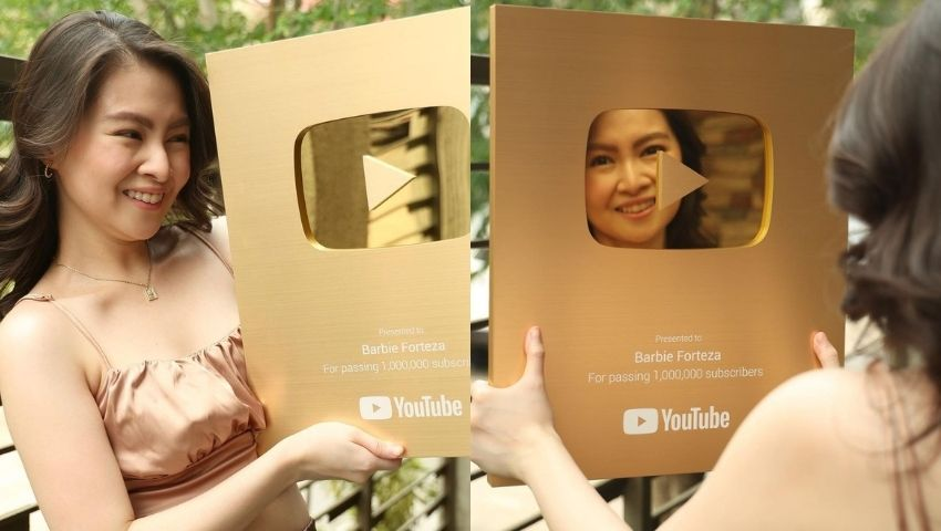 Barbie Forteza YouTube Gold Play Button
