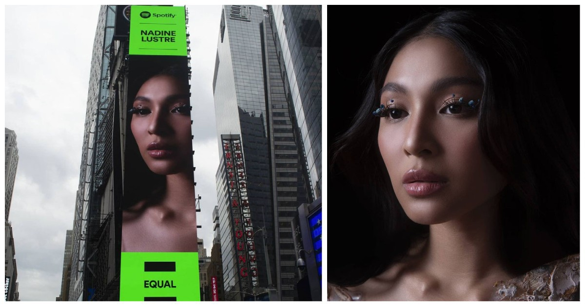 Nadine Lustre  New York Times Square billboard