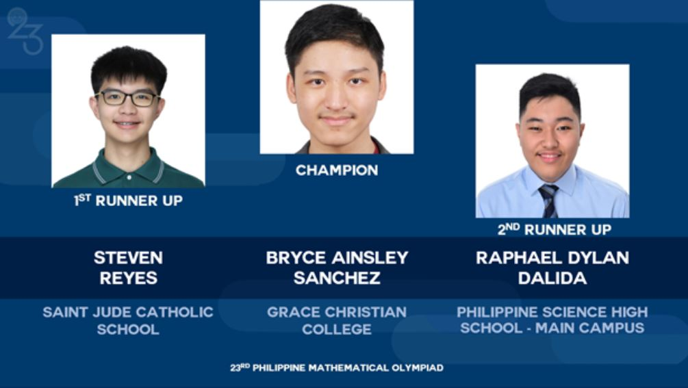 Grace Christian College Philippine Math Olympiad