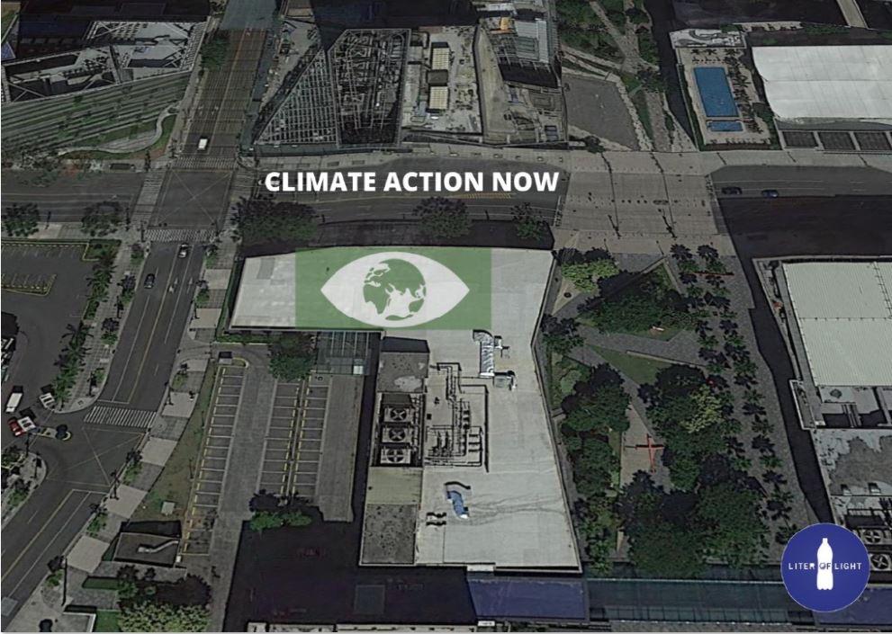 Climate pop-up solar art Bonifacio Global City