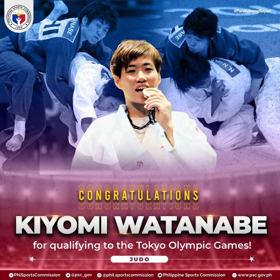 Kiyomi Watanabe 1st Filipino Olympian Judo