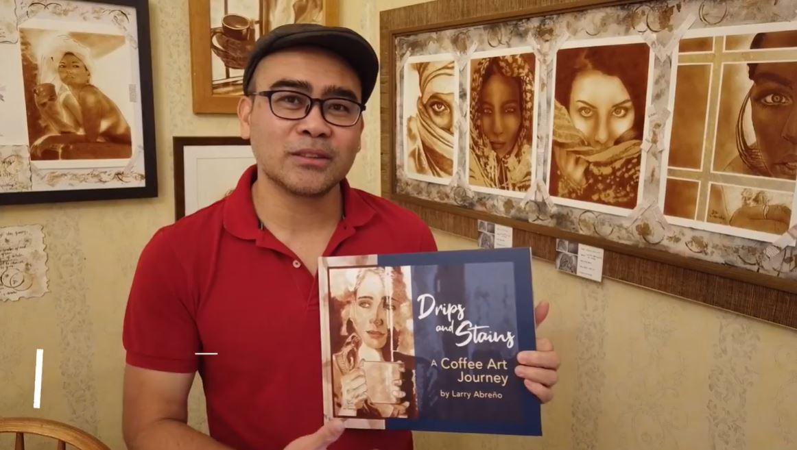 Coffee Painting Artist-Poet Larry Abreño