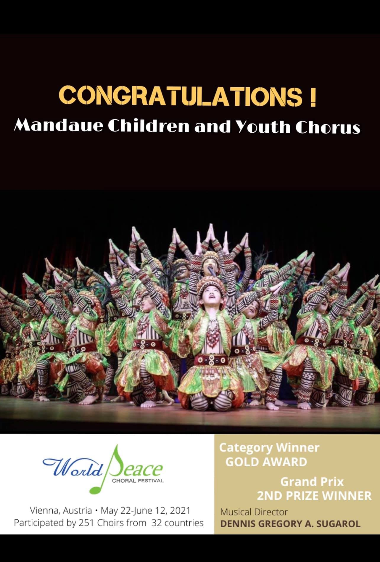 Philippines' children and youth choir World Peace Festival