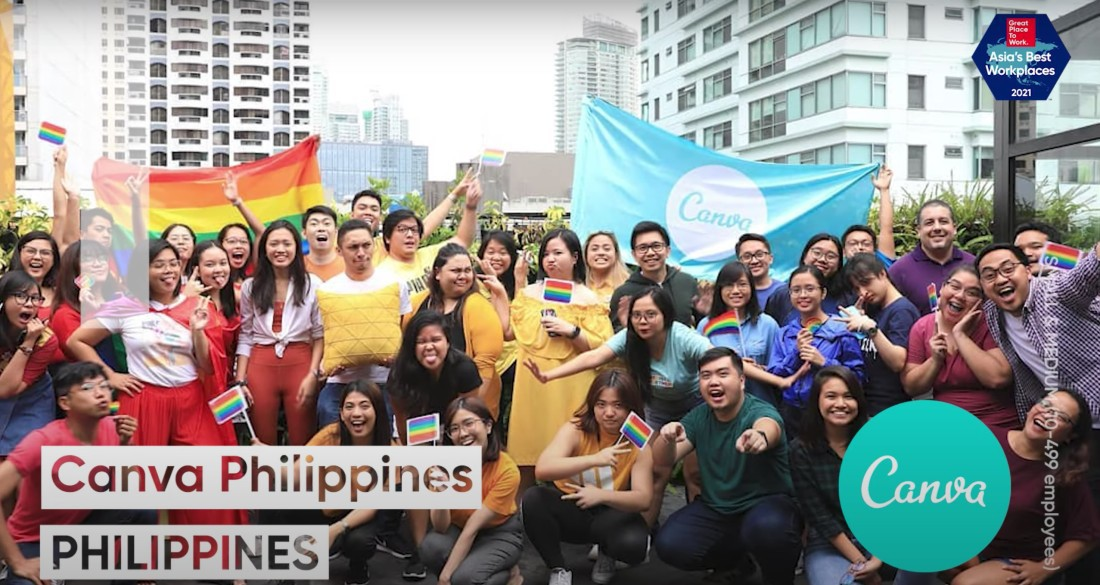 Canva Philippines Best Workplace in Asia