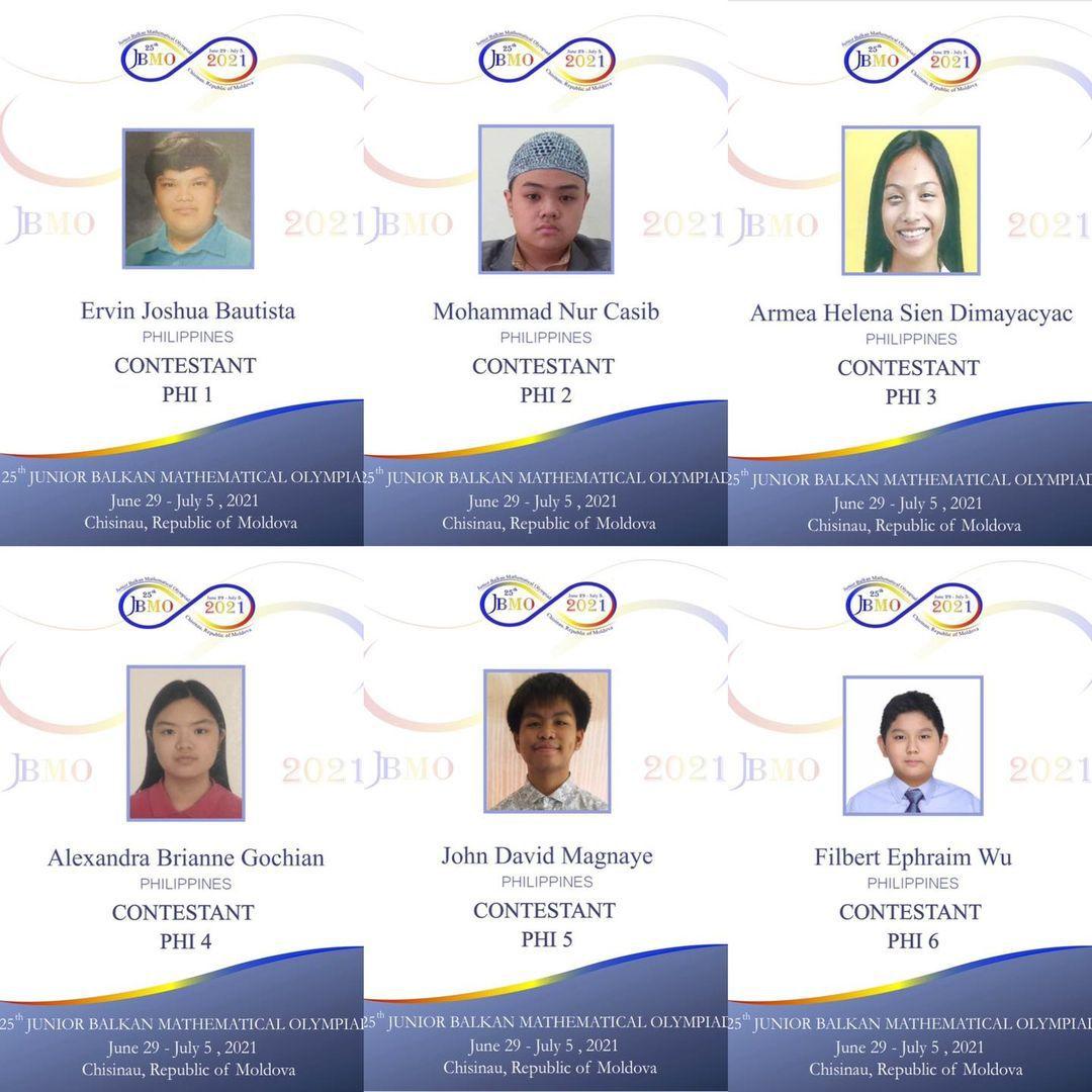 Filipino math students Balkan Mathematical Olympiad
