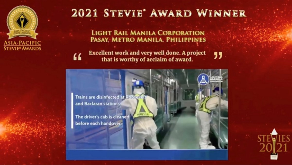 LRT-1 operator wins Asia-Pacific Stevie awards