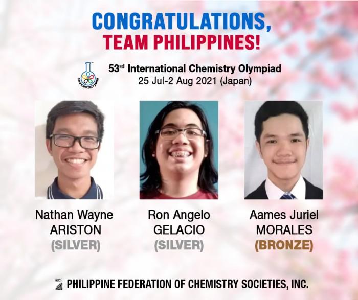 Team Philippines Japan's International Chemistry Olympiad