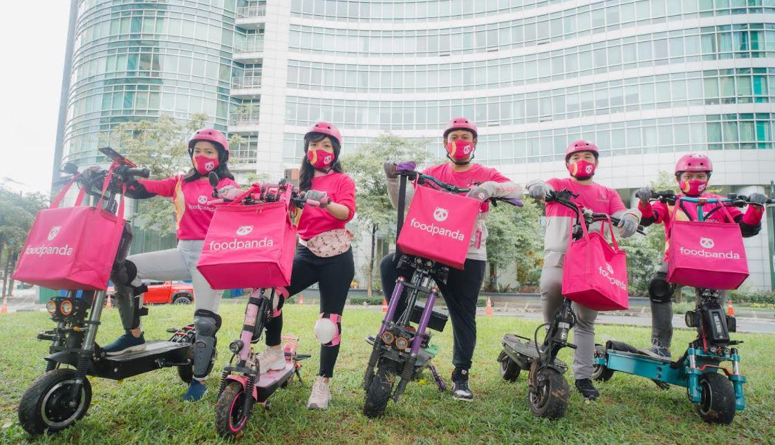 foodpanda e-scooter riders