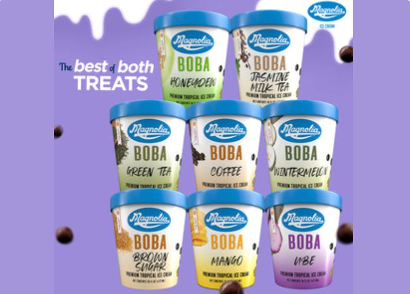Magnolia Boba Ice Cream