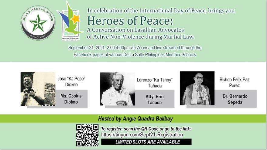 Lasallian heroes International Day of Peace