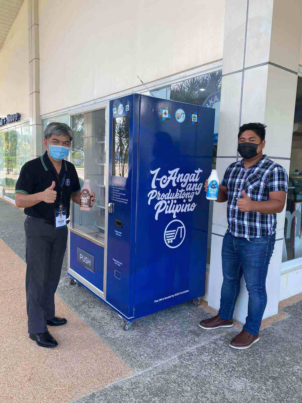Filipino farmers carabao milk vending machine