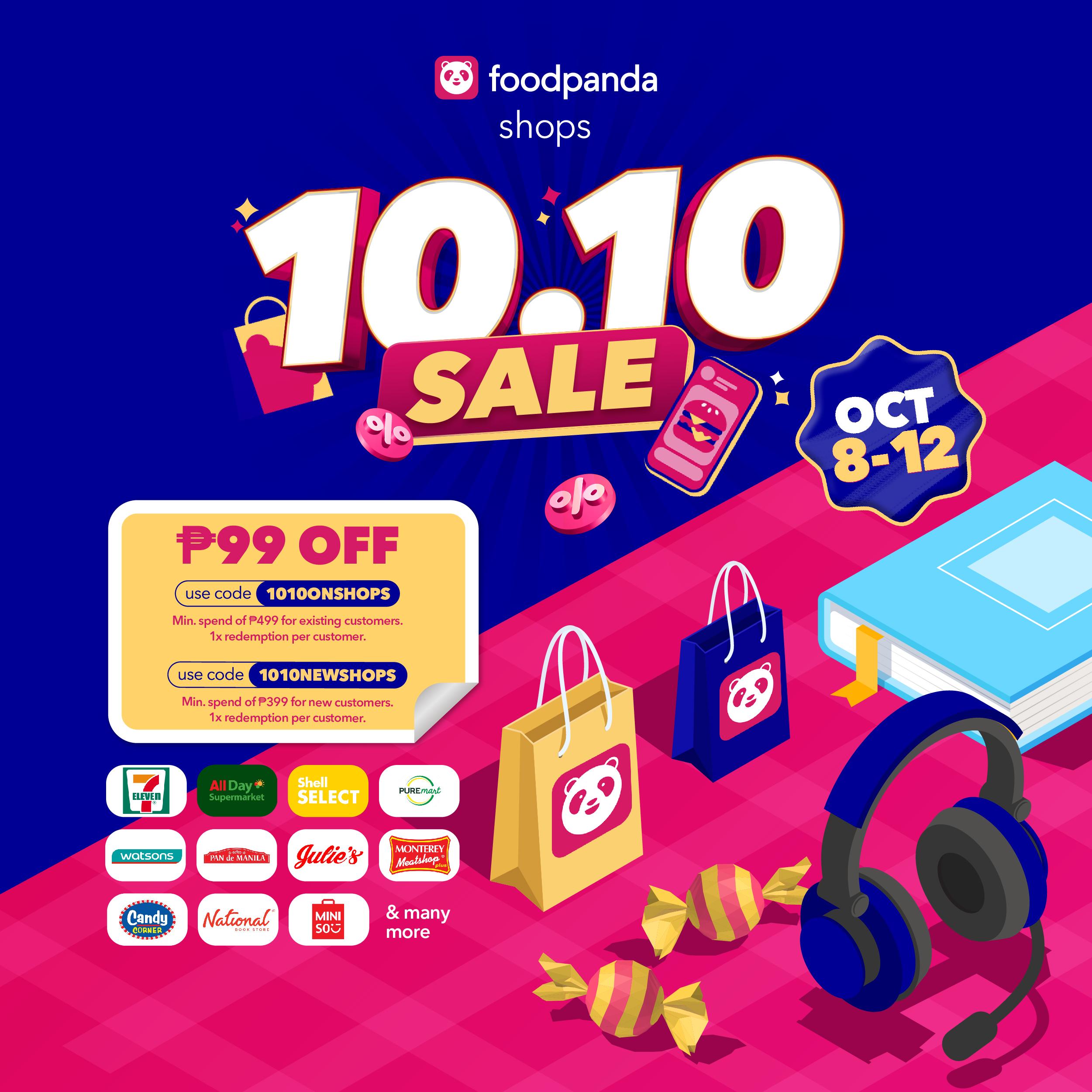 foodpanda 10.10 online shopping