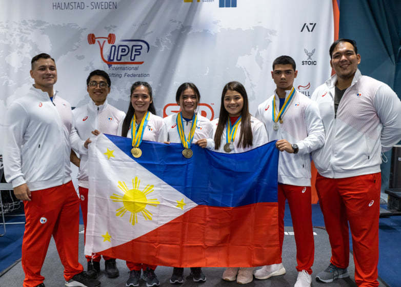 Pinay powerlifters Sweden World Classic