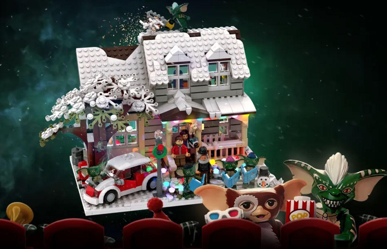 Gremlins Christmas LEGO playset Sesame Street