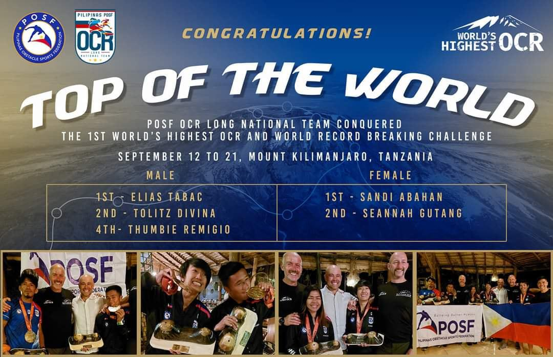 Filipino team world's highest obstacle course